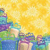 Tatil hediye kutuları, arka plan — Stok fotoğraf