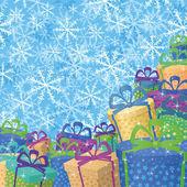 Noel hediye ile arka — Stok Vektör