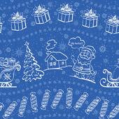 Christmas seamless background — Stock Photo