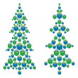 Christmas trees made up of gift boxes — Stock Photo