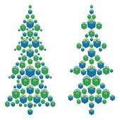 Weihnachtsbäume, bestehend aus geschenkboxen — Stockfoto