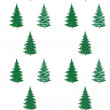 Christmas trees, seamless pattern — Stock Photo
