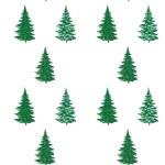 Christmas trees, seamless pattern — Stock Photo