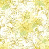 Seamless pattern, contour plants — Vector de stock