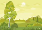 Woodland landscape — Vector de stock