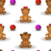 Background, teddy bears — Stock Vector