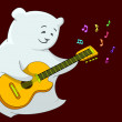 Teddy bear with guitar — Stock Photo