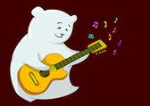 Teddy bear with guitar — Stock Photo
