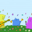 Cartoon toy animals musicians — Stock Photo