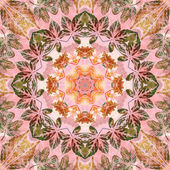 Seamless pattern with paintings leaves — Stock Photo