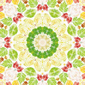 Seamless pattern with paintings leaves — Photo