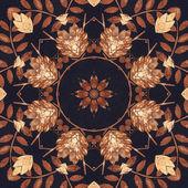 Ornamento floral sem emenda, casca na tela — Fotografia Stock