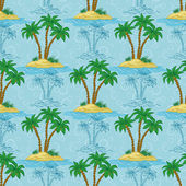 Seamless pattern, palm trees — Stock Photo