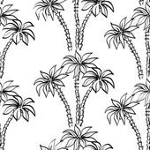 Seamless pattern, palm trees contours — Stock Photo