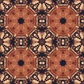 Seamless floral ornament, bark on fabric — Stock fotografie