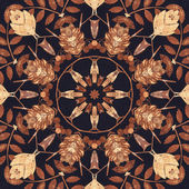 Seamless floral ornament, bark on fabric — Stok fotoğraf