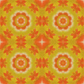 Seamless floral pattern paintings on canvas — Stock Photo