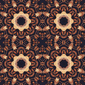 Seamless floral ornament, bark on fabric — Stockfoto
