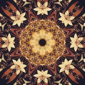 Naadloze floral sieraad, schors op stof — Stockfoto