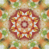 Seamless floral pattern paintings on fabric — Foto Stock