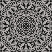 Seamless abstract floral outline pattern — Stockvector