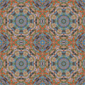 Seamless pattern, mosaic of  fabric — Stockfoto