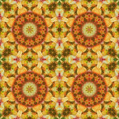 Seamless floral pattern paintings on fabric — Stock Photo