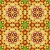 Pinturas sem costura padrão floral em tecido — Fotografia Stock