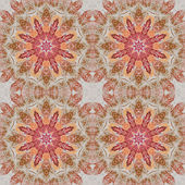 Seamless floral pattern paintings on fabric — Stockfoto