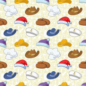 Seamless pattern of different heads — Stock Photo