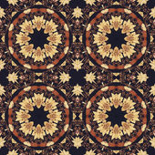 Seamless floral ornament, bark on fabric — Stock Photo