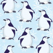 Seamless pattern, penguins and snowflakes — Stock Photo #51017255