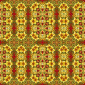 Wzór kwiatowy, obraz olejny — Zdjęcie stockowe