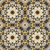 Seamless ornament, straw and bark on fabric — Stock Photo