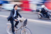 Bike in motion — Stock Photo