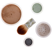 Mineral make-up isolated — Stock Photo