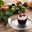 Cupcake with cherries — Stock Photo #50040891