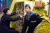 USSR submarine sailors — Stock Photo
