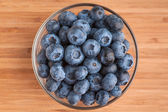 Blueberries in bowl — Stock Photo