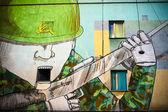 Warsaw political graffiti — Stock Photo