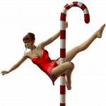 dança sexy do pólo norte — Fotografia Stock  #2783081