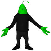 Fantasy Toon Alien — Stock Photo