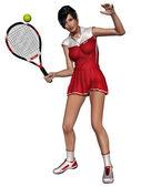 Sexy tennisspeelster — Stockfoto