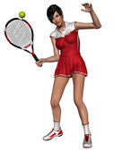 Joueuse de tennis sexy — Photo