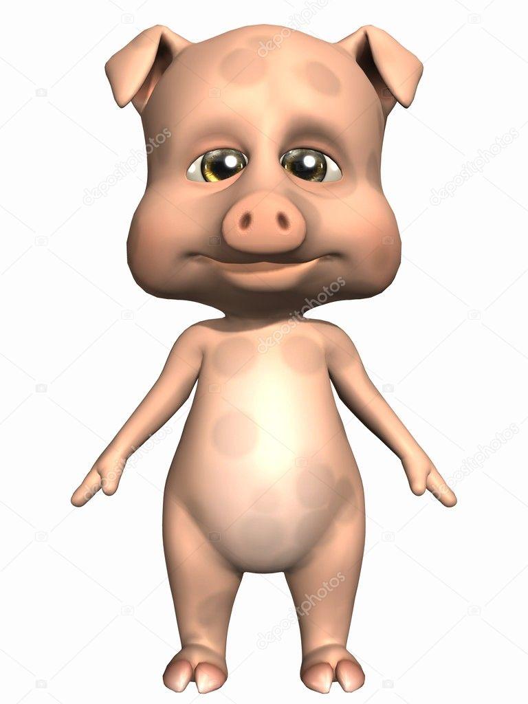 可爱的宠物猪