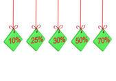 Discount percents — Stock Photo
