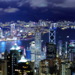 Hong Kong with crowded building at night — Stock Photo #12235627