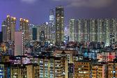 香港の夜に混雑させた建物 — ストック写真