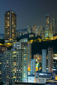 Hong Kong with crowded buildings at night — Photo