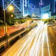 Traffic in urban at night - Stock Photo